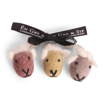Sheep Faces - Color, Set of 3